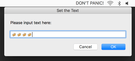 Image preview of Text on Menubar plugin.